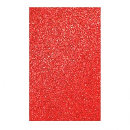 Placa de EVA 40x60cm - com glitter vermelho - Seller