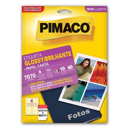 Etiqueta papel glossy 7070 - com 10 folhas - Pimaco