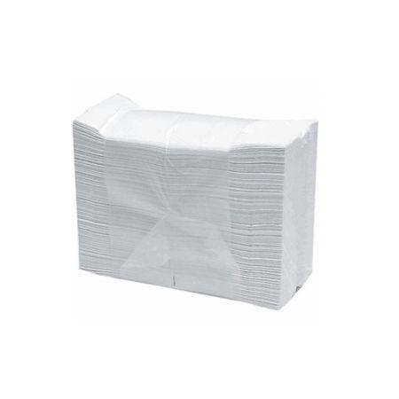 Papel toalha 2 dobras 23x21 - branco - pacote com 1000 folhas