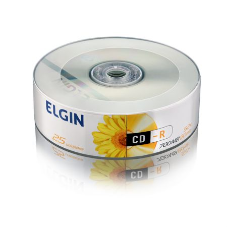 CD-R virgem 700MB 80 minutos - pino com 25 unidades - Elgin