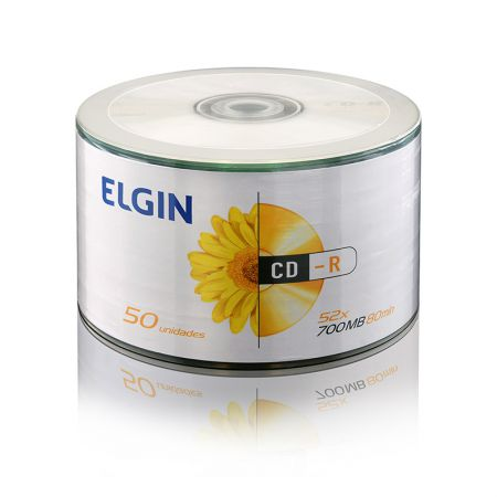 CD-R virgem 700MB 80 minutos - pino com 50 unidades - Elgin