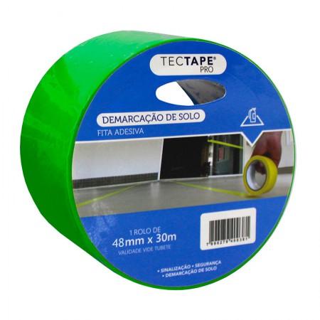 Fita para demarcação de solo 48x30 - verde - Tectape