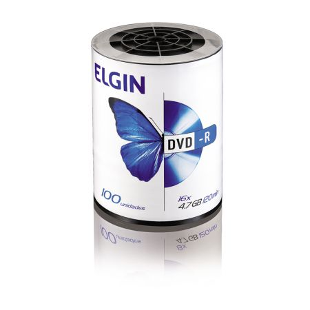 DVD-R virgem 4.7GB 120 minutos - pino com 100 unidades - Elgin