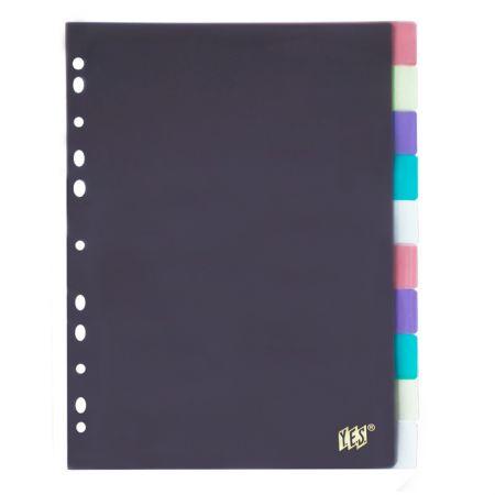 Divisória colorida A4 - 10 projeções - 10INTBA - Yes