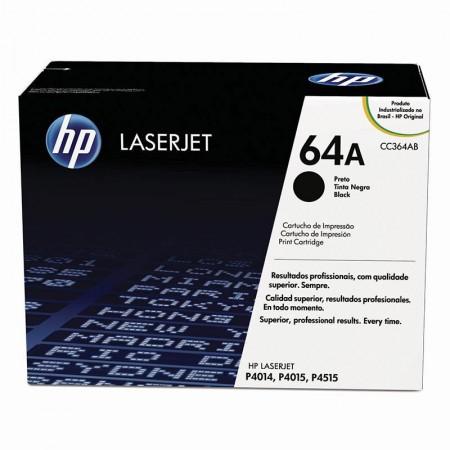 Toner HP Original (64A) CC364AB - preto 10000 páginas