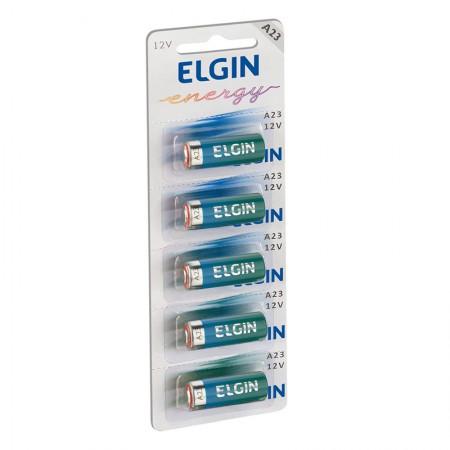 Bateria Alcalina A23 - 12V - com 5 unidades - Elgin