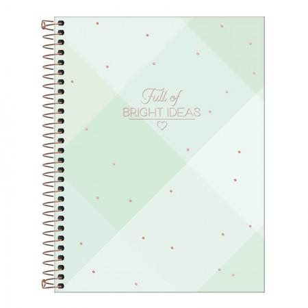 Caderno colegial capa dura 1x1 - 80 folhas - Soho - 4 - Tilibra