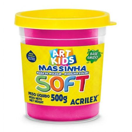 Massa de modelar Soft 500g - Rosa 107 - Acrilex