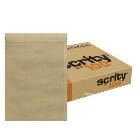 Envelope saco Kraft SKN332 229x324mm caixa com 100 unidades - Scrity