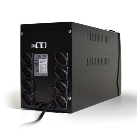 No-break bivolt 1400VA preto - UPS Profissional 364 full range - 8 tomadas - Ts Shara