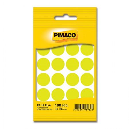 Etiqueta adesiva TP19 - amarelo fluorescente - Pimaco
