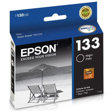 Cartucho Epson (133) T133120 - preto 230 páginas