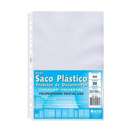 Envelope saco plástico A4 1360 - pacote com 50 unidades - Chies