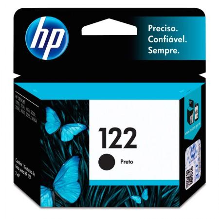 Cartucho HP Original (122) CH561HB - preto rendimento 120 páginas