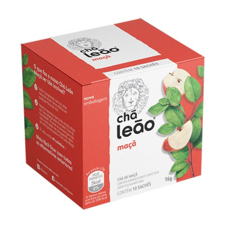 Chá de maçã - com 10 unidades - Leão Fuze