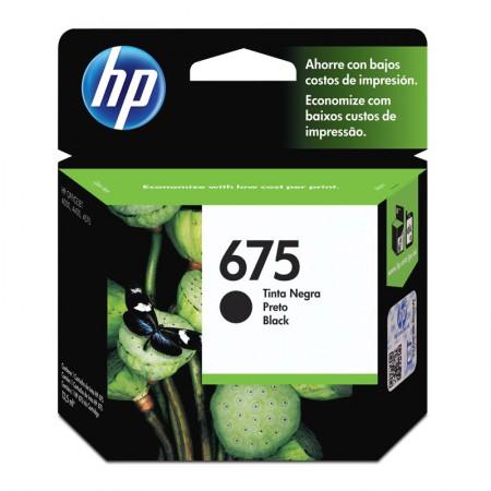 Cartucho HP Original (675) CN690AL - preto rendimento 600 páginas