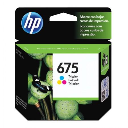 Cartucho HP Original (675)CN691AL cores rend.250pgs