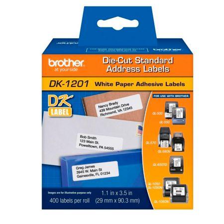 Etiqueta p/impressora térmica 29x90mmDK1201 400unds Brother