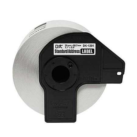 Etiqueta para impressora térmica 29x90mm - DK1201 - com 400 unidades - Brother