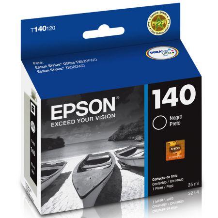 Cartucho Epson (140) T140120 - preto 945 páginas