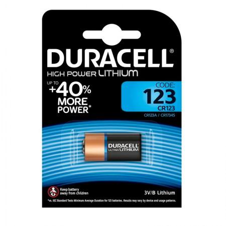 Bateria 3 volts CR123A - Duracell