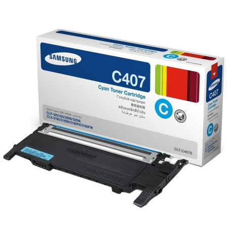 Toner Samsung CLT-C407S - ciano 1000 páginas - serie CLP-320/325