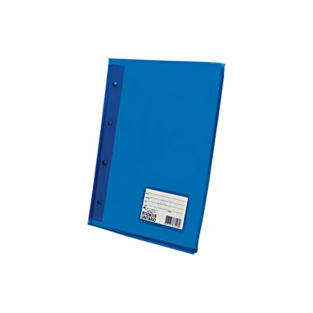 Pasta catálogo com visor - 5028AZ - Azul Transparente - com 10 envelopes plásticos - Dac