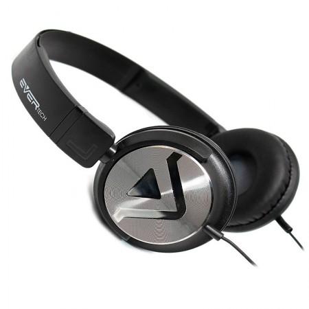 Fone de ouvido com microfone DJ EVHP-20M/BB - Preto escovado - Evertech