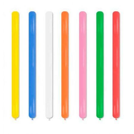 Bexiga palito liso cores sortidas - Art Festa - com 25 unidades - Balloontech