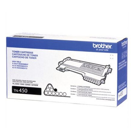 Toner Brother TN450 - preto 2600 páginas
