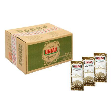 Açúcar refinado em sachê 5g - caixa com 400 unidades - União