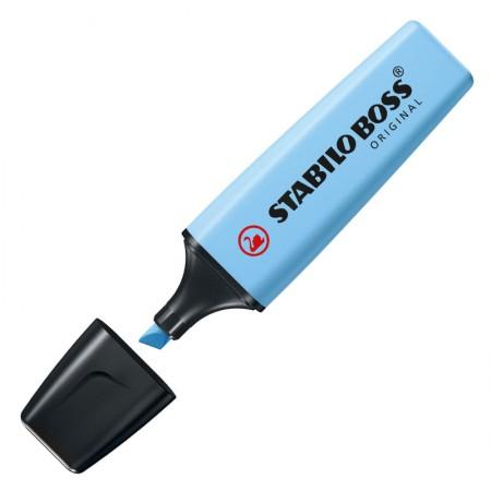 Pincel marca texto Boss Pastel - Azul Névoa - 70/112 - Stabilo