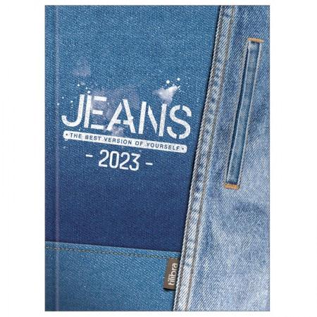 Agenda costurada Jeans 2021 - Capa 1 - Tilibra