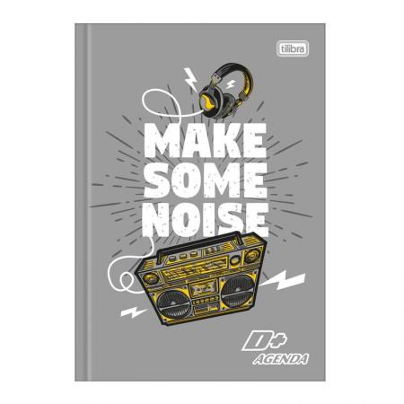 Agenda escolar costurada permanente D mais (M5) - Make Some Noise - Tilibra