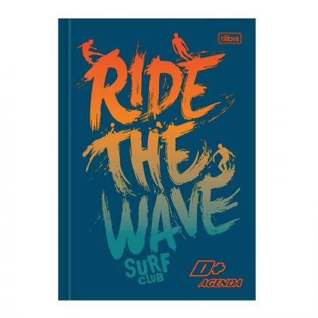Agenda escolar costurada permanente D mais (M5) - Ride The Wave Surf - Tilibra