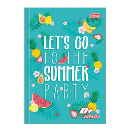 Agenda escolar costurada permanente D mais (M5) - Summer Party - Tilibra