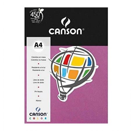Papel Color Vivaldi A4 180g malva - com 10 folhas - Canson