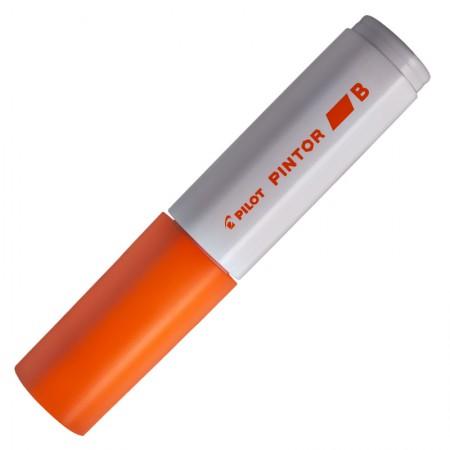Pincel marcador Pintor ponta grossa 8.0mm - laranja - Pilot