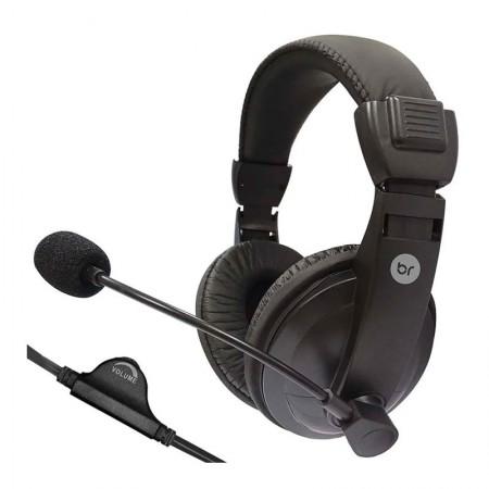 Headset office com fio P2 Preto 507 - Bright
