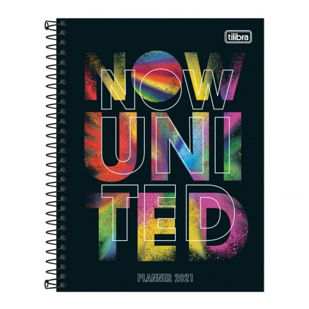 Agenda planner espiral semanal Now United - 2021 - M7 - Capa 2 - Tilibra
