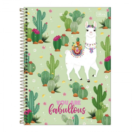 Caderno espiral capa dura universitário 1x1 - 80 folhas - Hello - 4 - Tilibra
