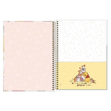 Caderno espiral capa dura universitário 1x1 - 80 folhas - Pooh - 4 - Tilibra