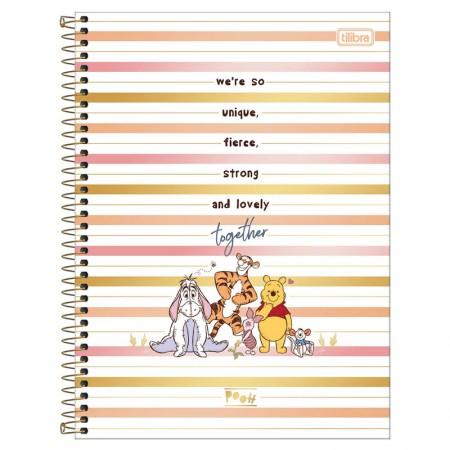 Caderno espiral capa dura universitário 1x1 - 80 folhas - Pooh - 3 - Tilibra