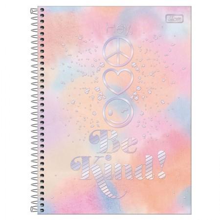 Caderno espiral capa dura universitário 10x1 - 160 folhas - Good Vibes - 1 - Tilibra