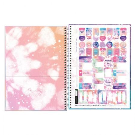 Caderno espiral capa dura universitário 1x1 - 80 folhas - Good Vibes - 4 - Tilibra