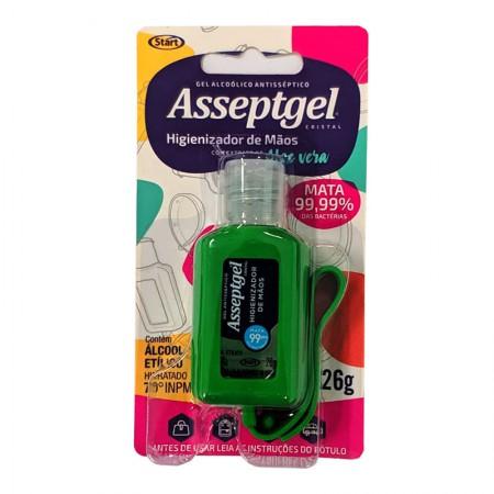 Álcool gel Asseptgel cristal com chaveiro 26g - cores sortidas - Start Química