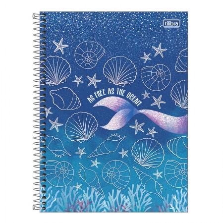 Caderno espiral capa dura universitário 10x1 - 160 folhas - Wonder Sereia - 2 - Tilibra