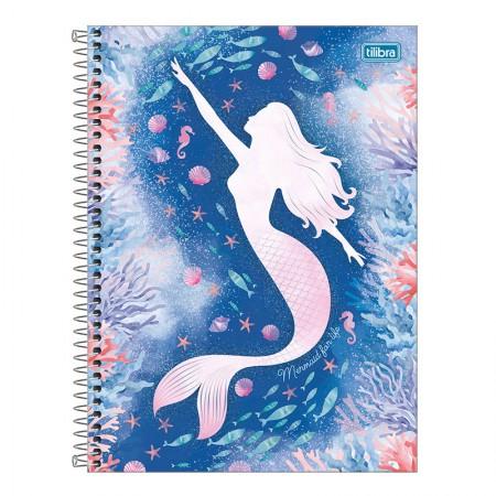 Caderno espiral capa dura universitário 1x1 - 80 folhas - Wonder Sereia - 4 - Tilibra
