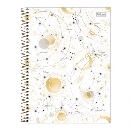 Caderno espiral capa dura universitário 10x1 - 160 folhas - Magic - 1 - Tilibra
