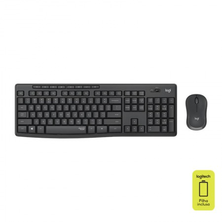 Teclado e mouse USB sem fio Silent Wireless MK295 - Logitech